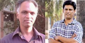 Sudhir Dhawale - on Left- Arun Ferreira on Right