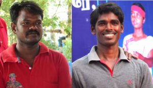 Balu  ambedkar on (left) and thanjai  tamil on (right)
